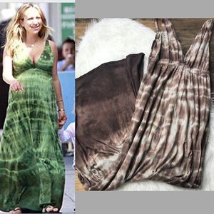 Gypsy 05 brown tie dye maxi dress!  Size Small